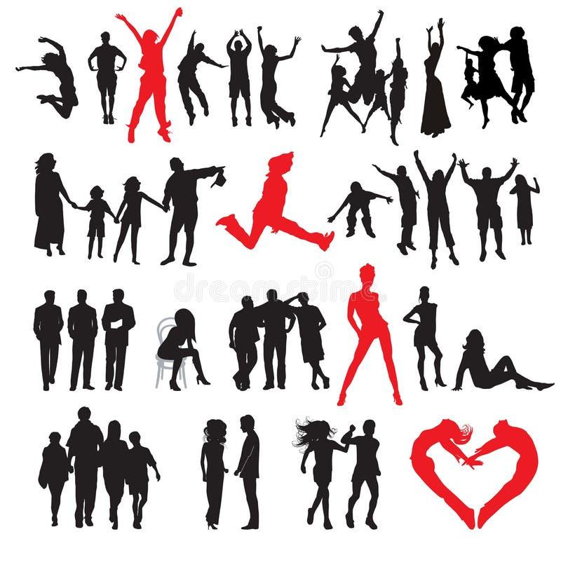 Download Siluette della gente illustrazione vettoriale. Illustrazione di corpo - 3875312