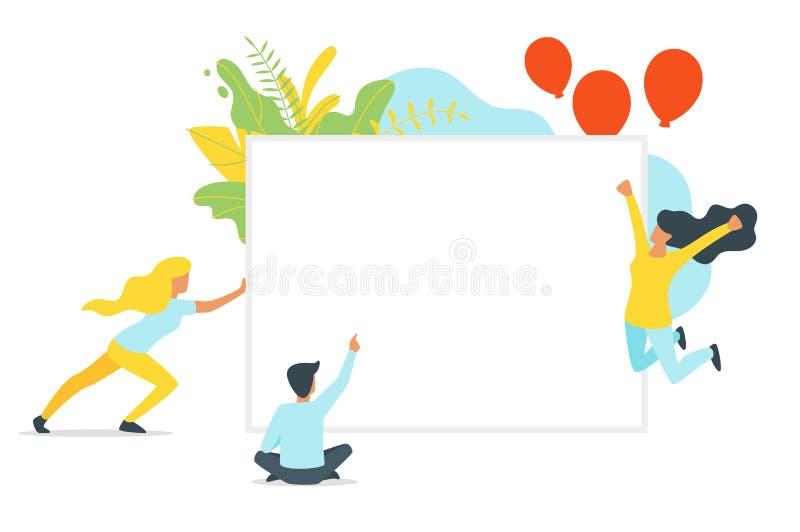 Siluette della gente nelle pose differenti illustrazione di stock