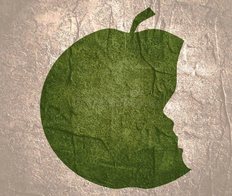 Siluette della mela e della testa royalty illustrazione gratis