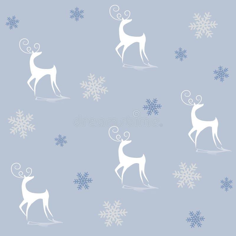 Siluette della renna sull'azzurro illustrazione vettoriale