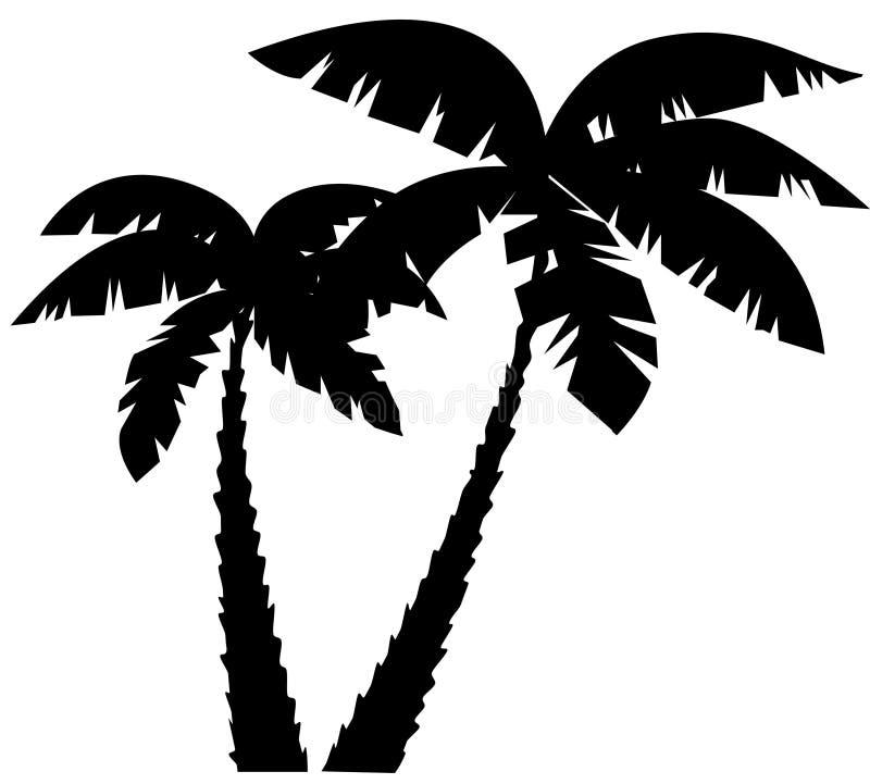 Siluette delle palme illustrazione di stock