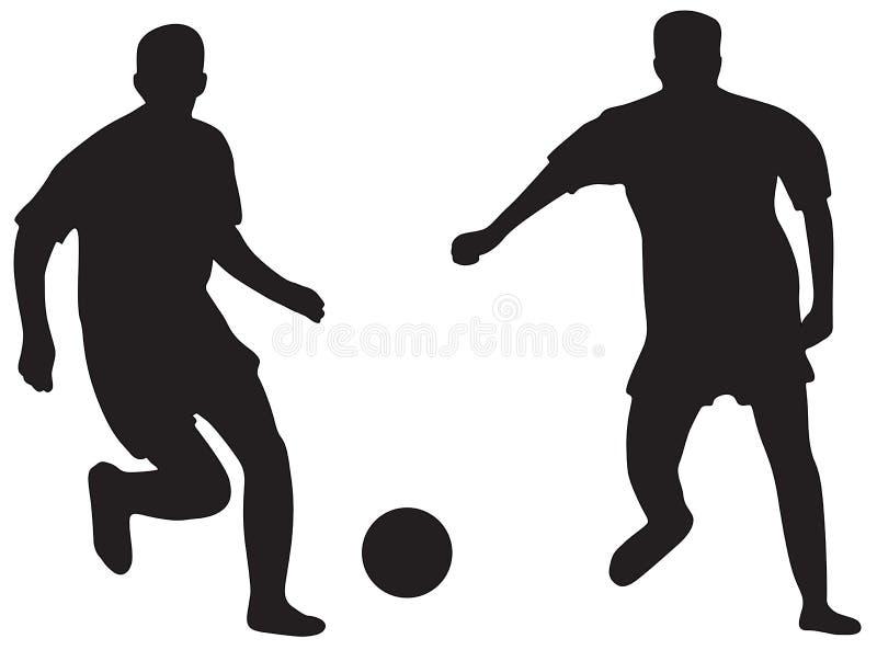Download Siluette Di Gioco Del Calcio Illustrazione Vettoriale - Illustrazione di maschio, esercitazione: 3133602