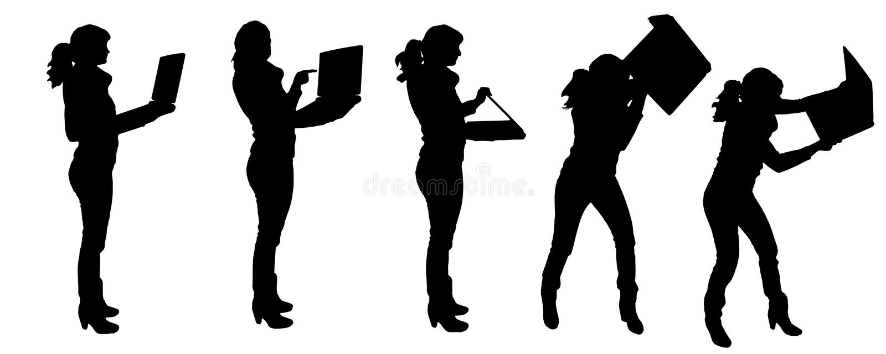 Siluette di vettore della gente illustrazione vettoriale