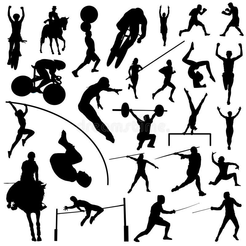 Siluette olimpiche di sport illustrazione vettoriale