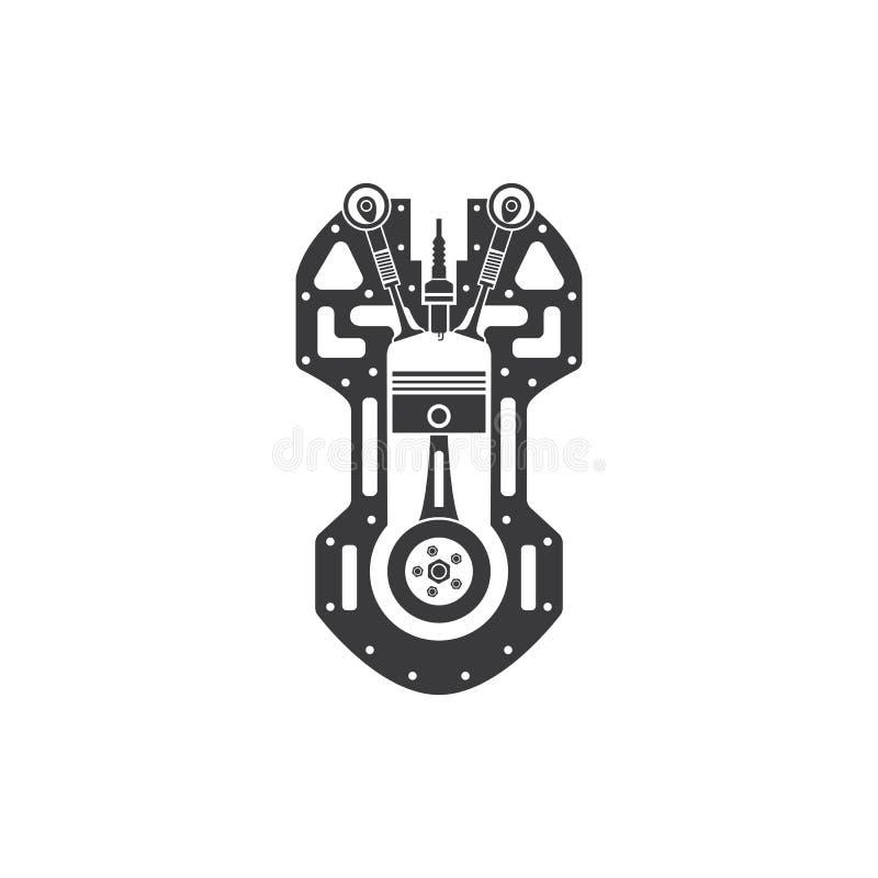 Siluette parowozowa ikona na białym tle ilustracji