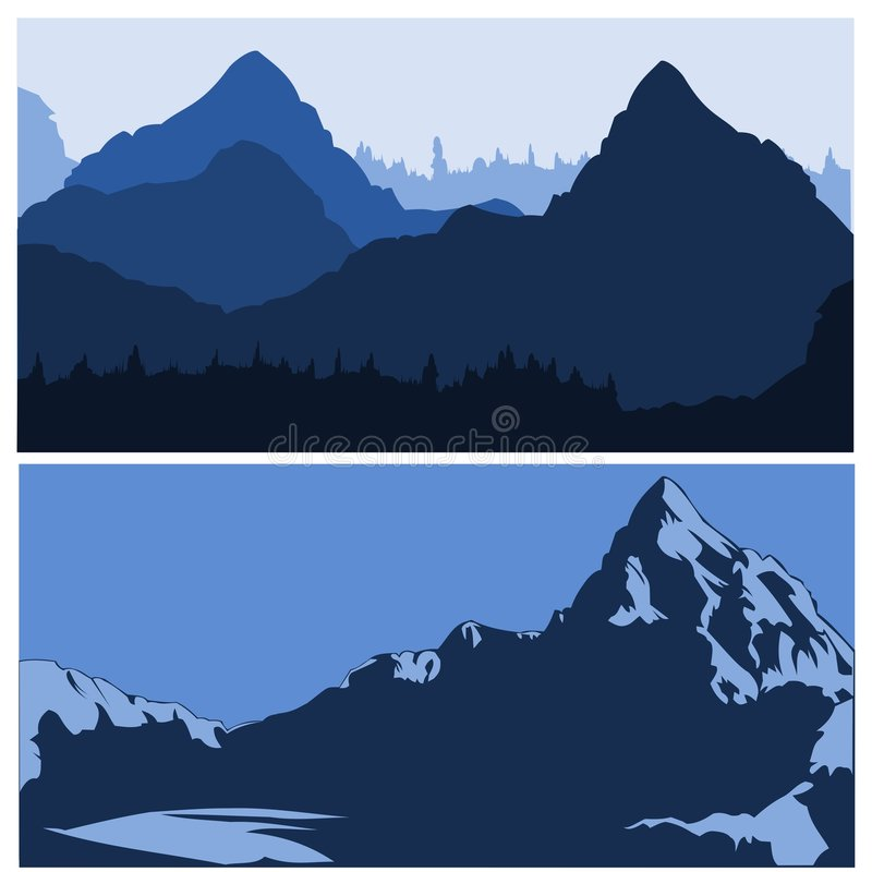 siluettes гор иллюстрация штока