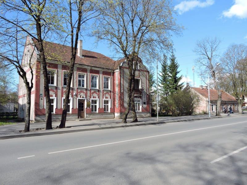 Silute stad, Litauen arkivbilder