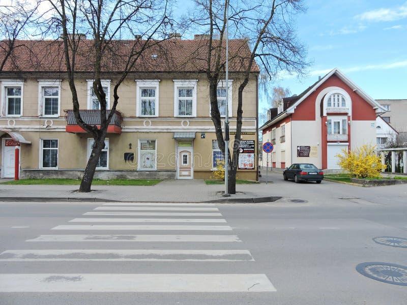 Silute stad, Litauen arkivfoton