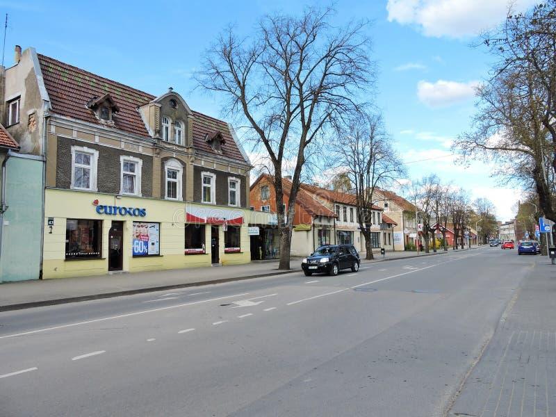 Silute stad, Litauen fotografering för bildbyråer