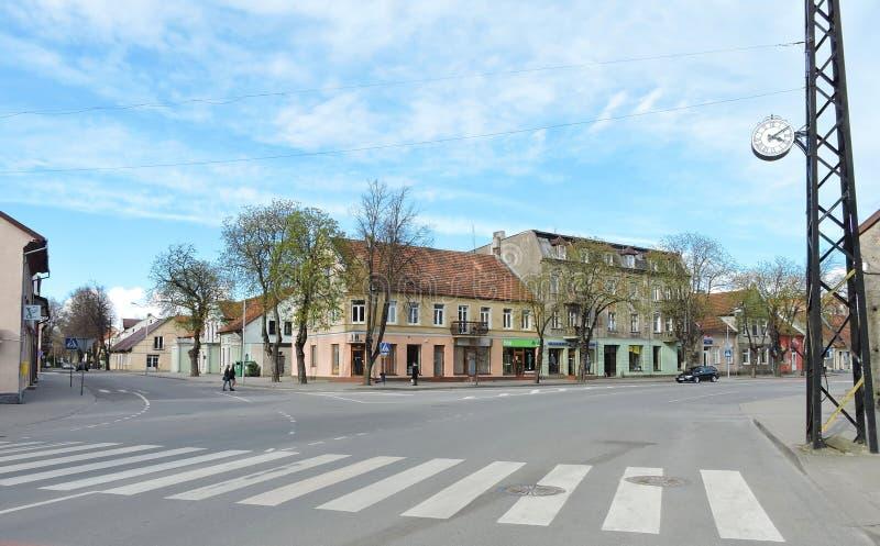 Silute stad, Litauen royaltyfria bilder