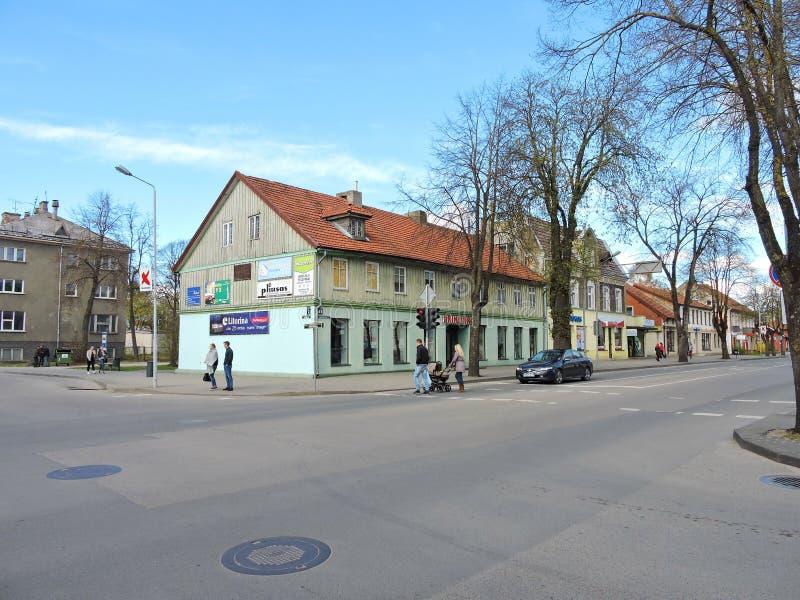 Silute stad, Litauen arkivbild