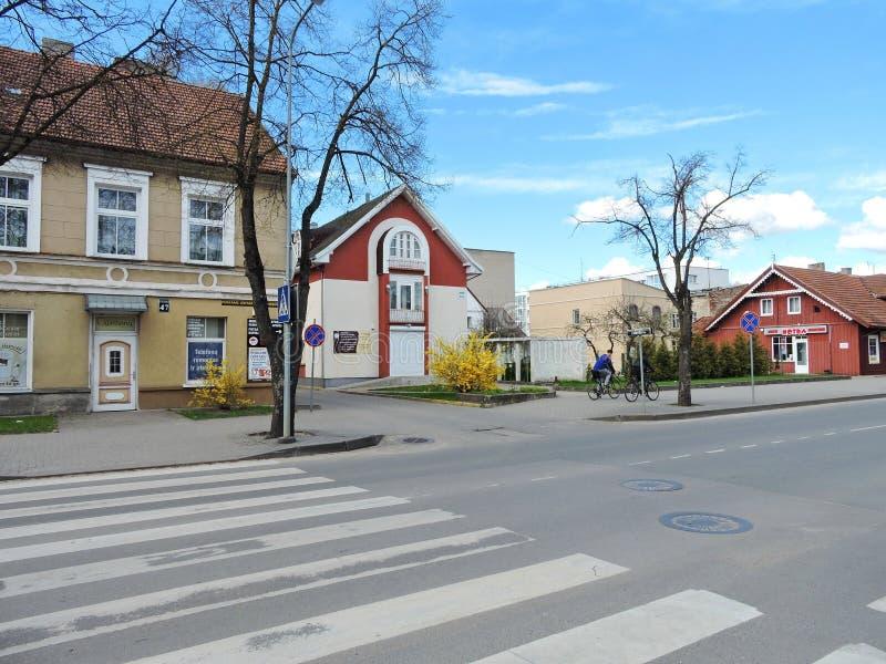 Silute stad, Litauen arkivfoto