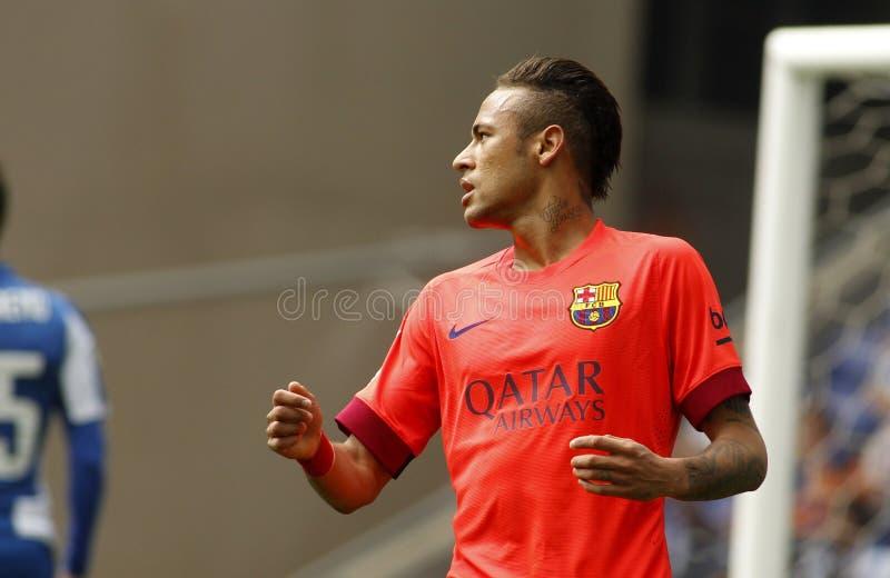 Silva de Neymar DA del FC Barcelona fotografía de archivo