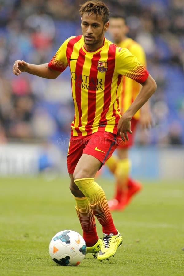 Silva de Neymar a Dinamarca do FC Barcelona fotos de stock