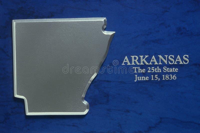 Silveröversikt av Arkansas royaltyfri bild