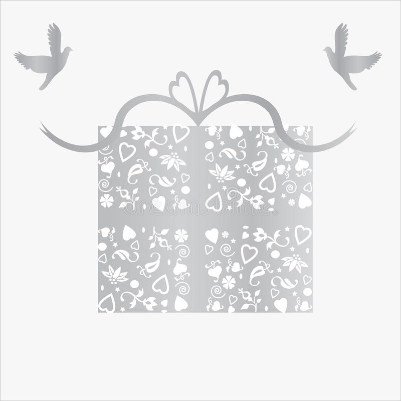 Download Silver 25th Wedding Anniversary Gift Card Stock Illustration - Image: 14867561