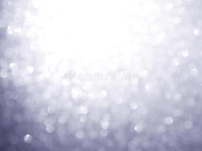 Silver abstract blured background. And white bokeh for Christmas or new year holiday concept royalty free stock images