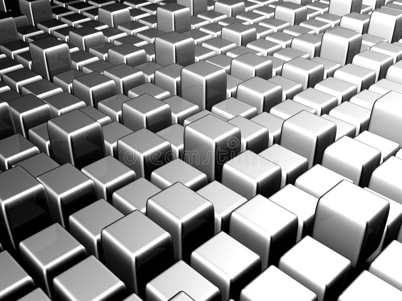 Silver abstract city scene background stock image