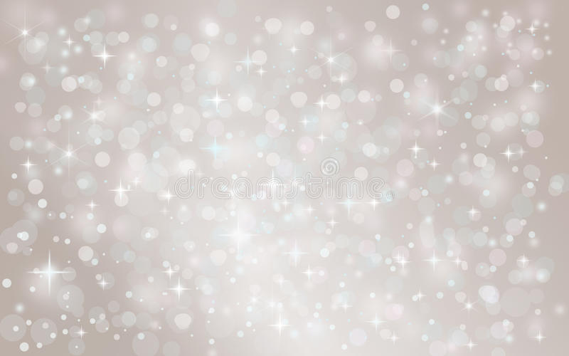 Silver abstract snow falling winter christmas holiday background. With sparkles and glitter