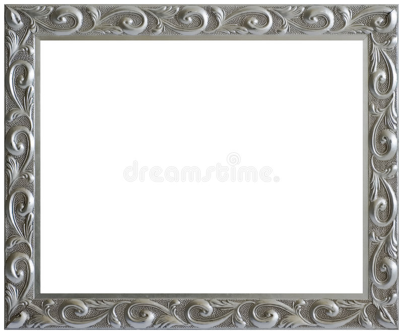 Silver Aged Vintage Picture Frame royalty free stock photography