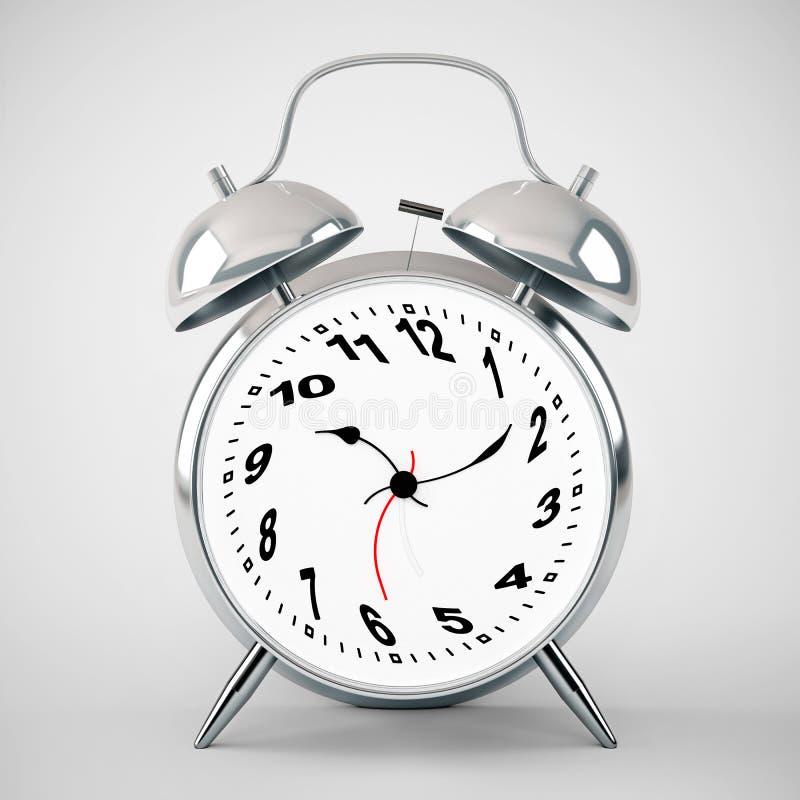 Silver Alarm Clock Twisted Stock Photos