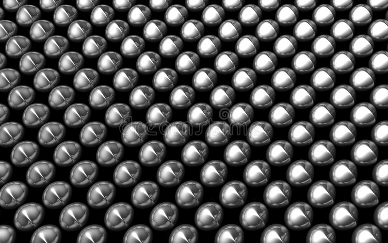 Silver aluminum shiny beans pattern royalty free stock photo
