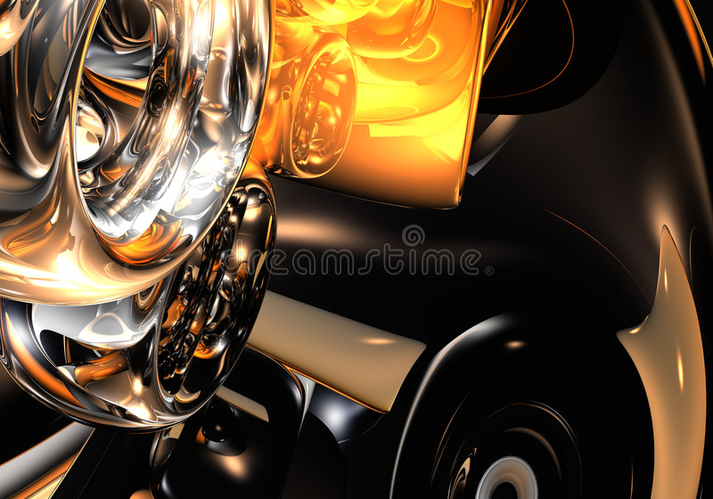 Silver&orange Ringe vektor abbildung