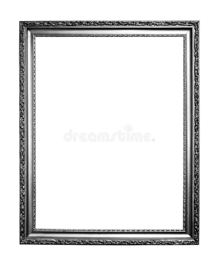 Download Silver art frame stock image. Image of construction, object - 17612739