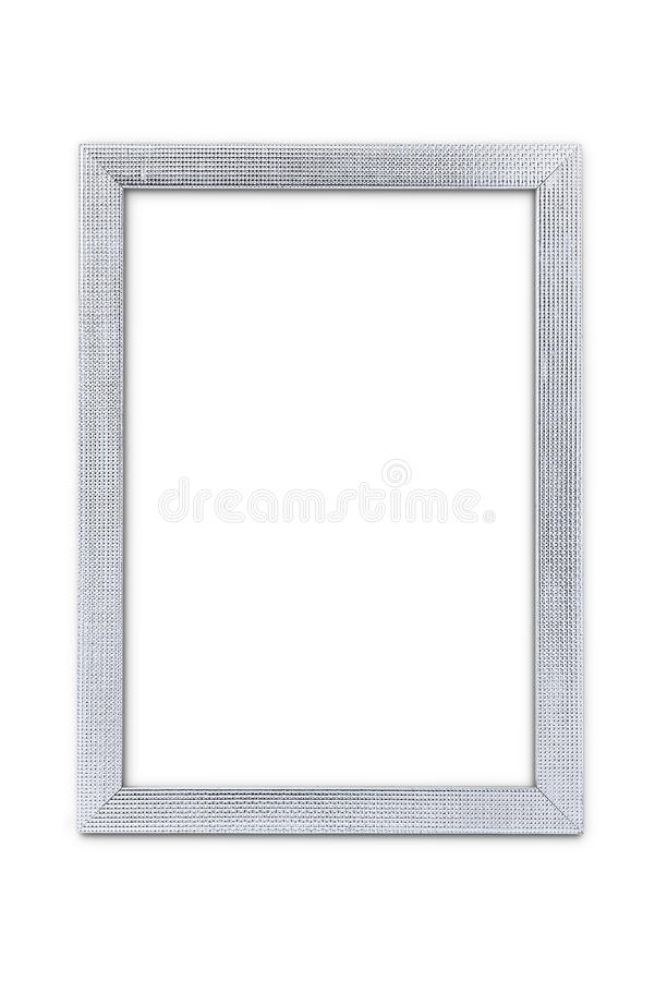 Silver arts pattern picture frame isolated on white with clipping path. Silver arts pattern picture frame isolated on white background stock images