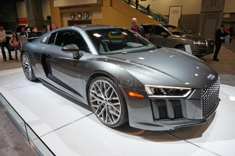 Download Silver Audi R8 V10 Sports Car Editorial Photo   Image Of Show, Auto :
