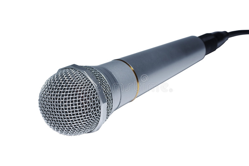 Silver Audio Microphone Stock Images