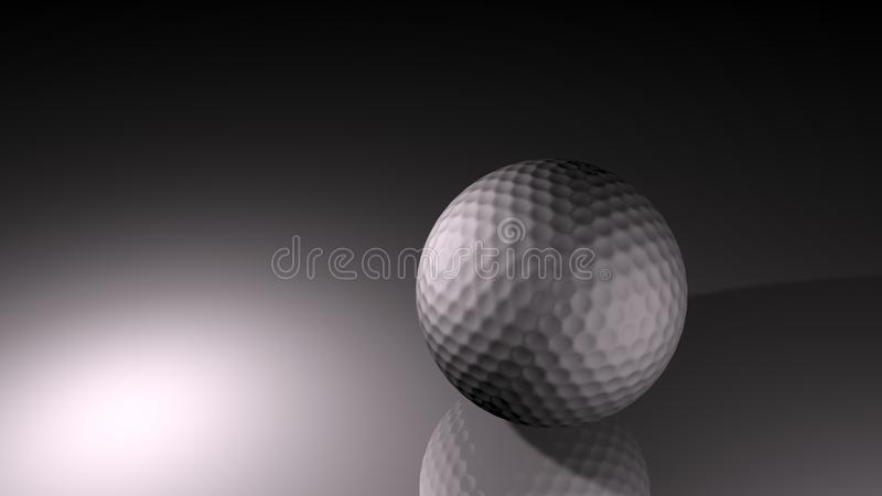 Download Silver Background Golf Ball Stock Illustration - Image: 16670892