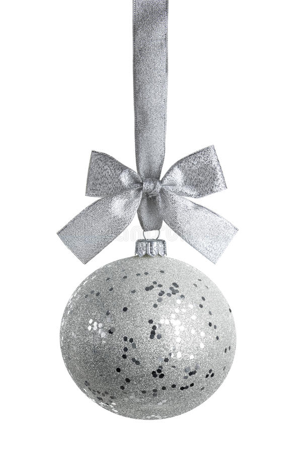 Silver ball with clipping path stock photo