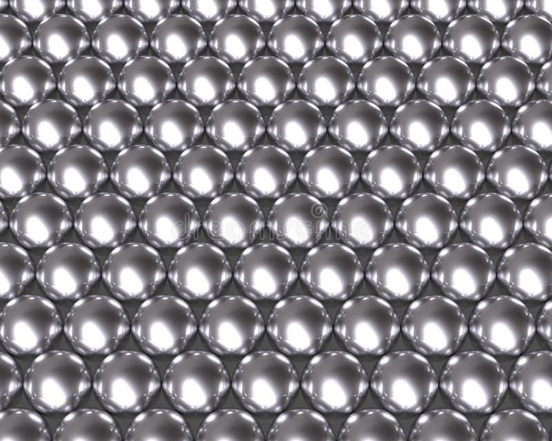 Silver balls pattern reflective texture royalty free illustration
