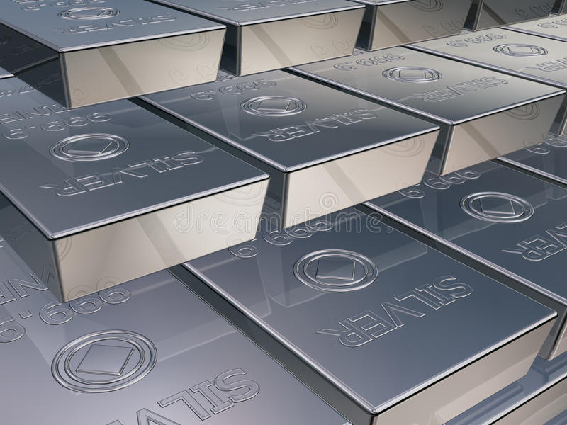 Download Silver bars stock illustration. Image of cost, bars, trade - 22676574