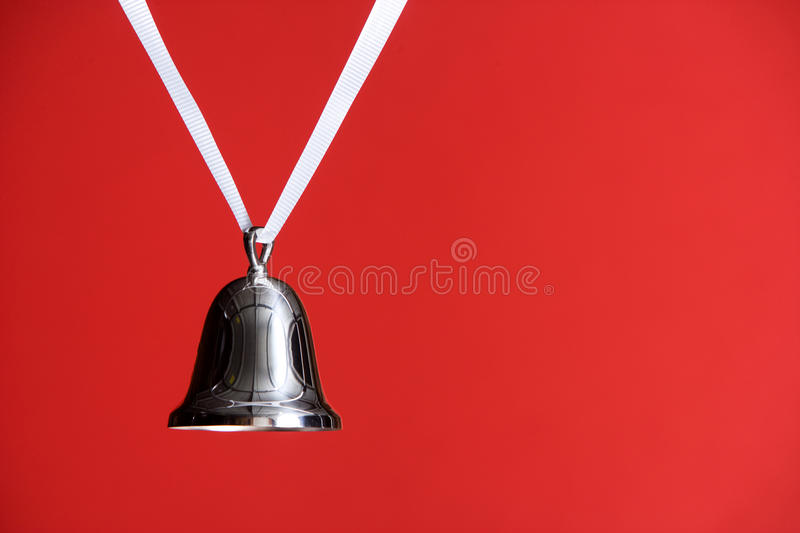 Download Silver Bell on Red stock image. Image of copy, bright - 10976635