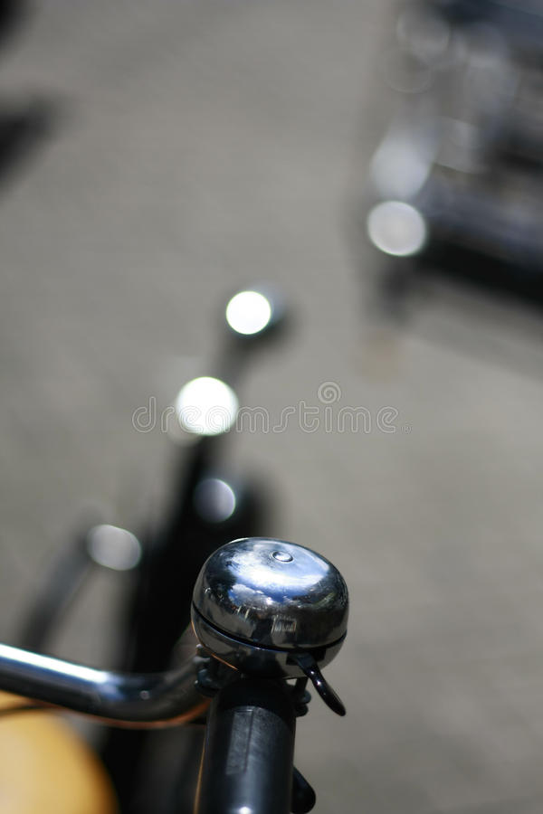 Silver Bicycle Bell Stock Photos