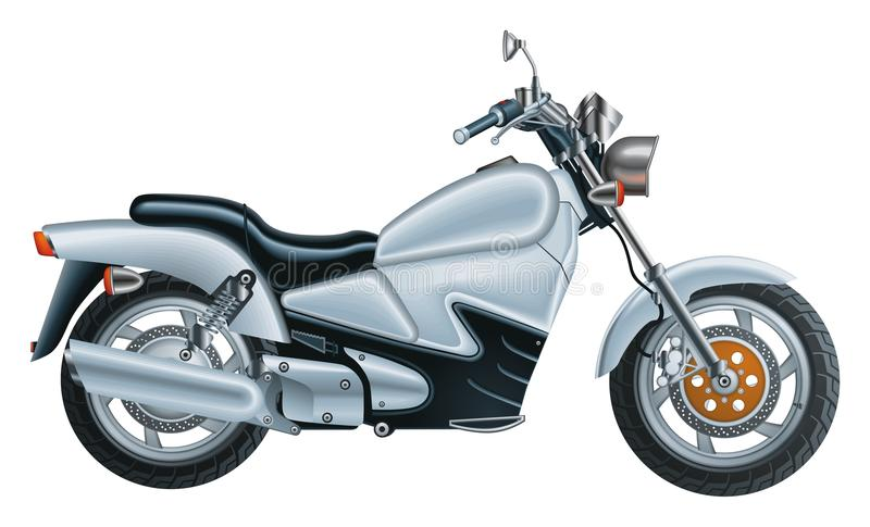 Download Silver Bike stock vector. Image of motorcycle, italy - 19559806