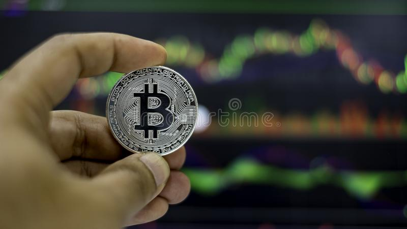 Cyptocurrency; digital money for new financial platform stock images