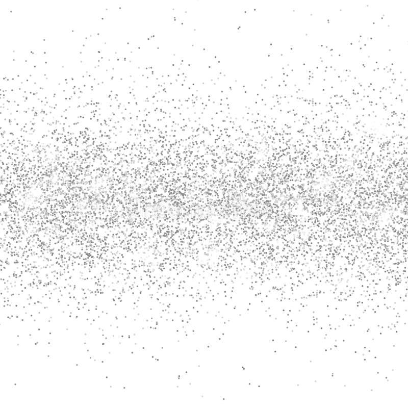 Silver bl?nker gnistrandet p? en genomskinlig bakgrund F?rsilvra vibrerande bakgrund med glimtljus ocks? vektor f?r coreldrawillu royaltyfri illustrationer