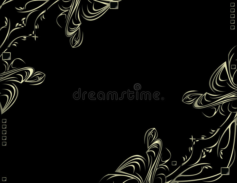 Silver black decorative backgr royalty free illustration