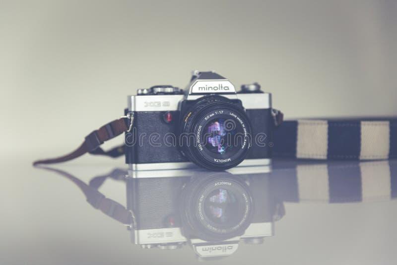 Silver And Black Minolta Camera Free Public Domain Cc0 Image