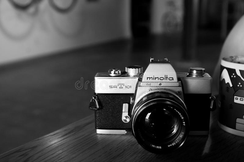 Silver And Black Minolta Dslr Camera Free Public Domain Cc0 Image