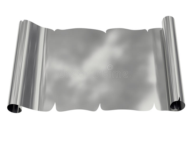 Download Silver Blank Sheet Of Paper With Uneven Edges Stock Illustration - Illustration: 20022805