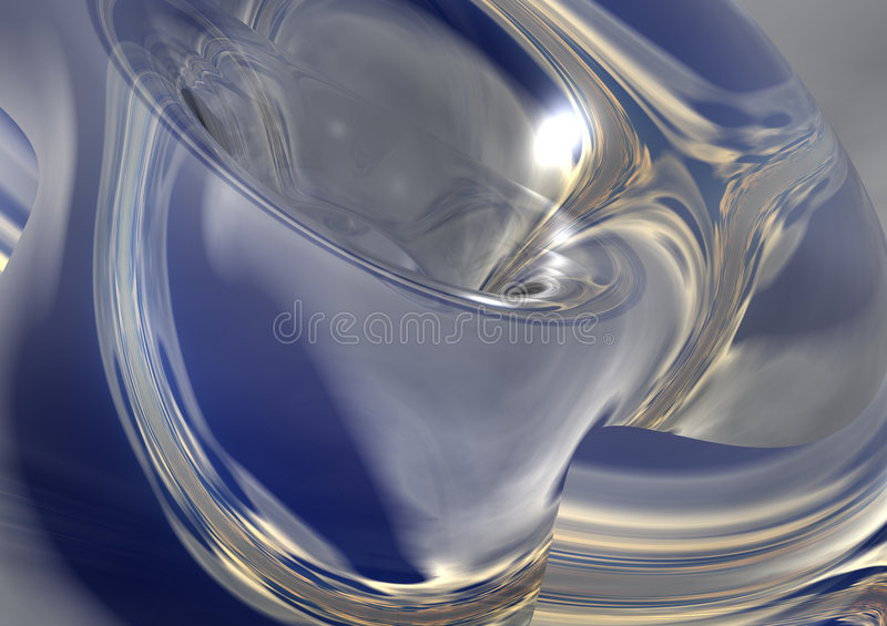 Silver Blue Abstract Backgroun Stock Image