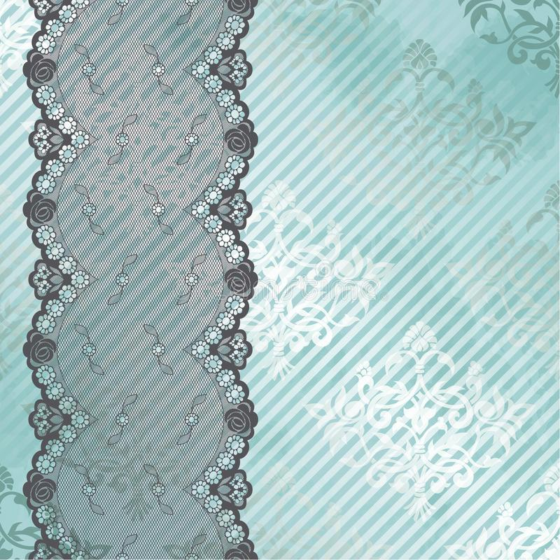 Download Silver And Blue Background With Black Lace Stock Vector - Illustration of lingerie, fabric: 23612157