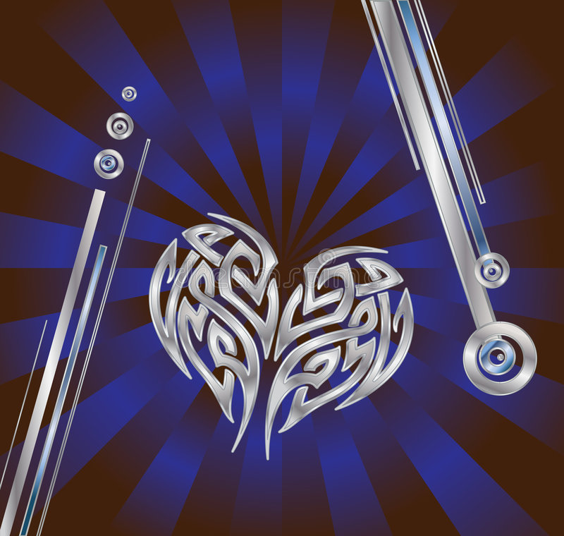Download Silver Blue Heart stock vector. Image of razor, steel - 7259433