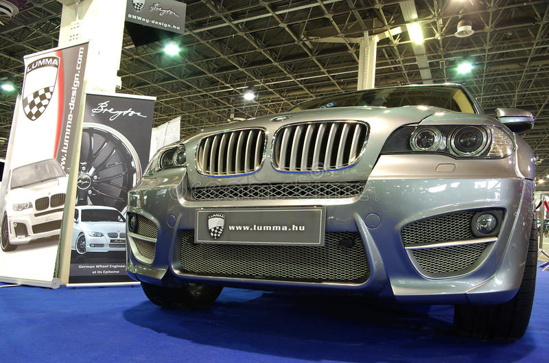 Silver BMW X5 front stock images