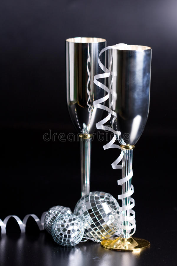 Silver Bocals And Serpentine Decoration Royalty Free Stock Images