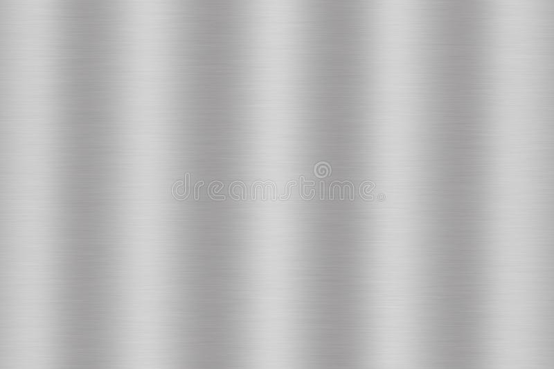 Silver borstad metall eller grå färger stålsätter texturbakgrund stock illustrationer